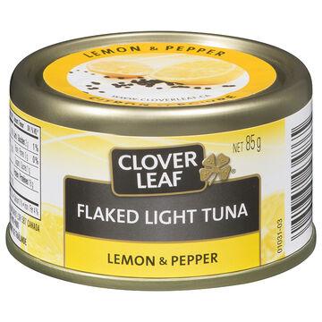 Clover Leaf Flaked Light Tuna - Lemon & Pepper - 85g