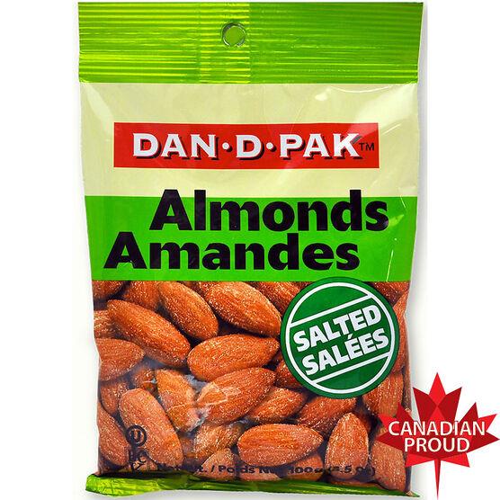 Dan-D-Pak Salted Almonds - 100g