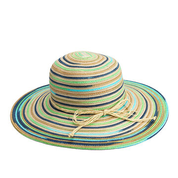 Bellezza Wide Brim Floppy Hat - Coral Print