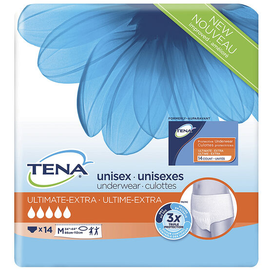 Tena Unisex Underwear Ultimate-Extra - Medium - 14's