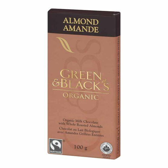 Green & Black's Organic Chocolate Bar - Almond - 100g