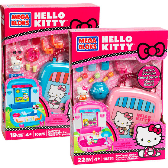 Mega Bloks Hello Kitty Ice Cream Parlor/Pool Party