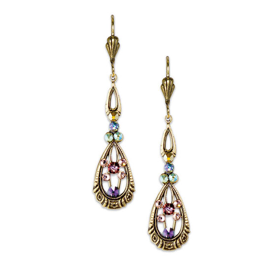 Anne Koplik Elong Filigree Teardrop Earrings