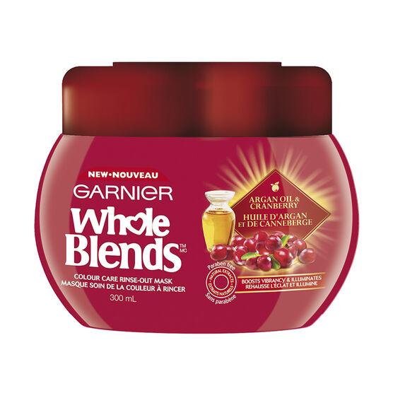 Garnier Whole Blends Colour Care Rinse-Out Mask - Argan Oil & Cranberry - 300ml