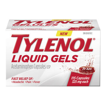 Tylenol* Liquid Gels - 325mg - 115's