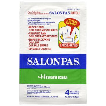 Salonpas Pain Relieving Patch - Large - 4's