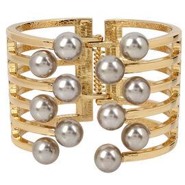 Haskell Cuff Bracelet - Grey/Gold