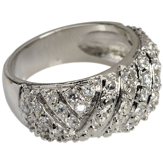 Marca Clear Crystal Ring - Size 7