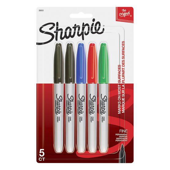 Sharpie Fine Point Permanent Marker - 5 pack