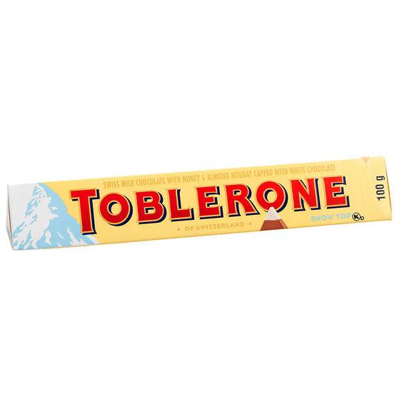 Toblerone Milk Chocolate Snow Top - 100g