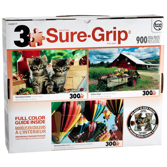 3 in 1 Sure-Grip Puzzle - Assorted
