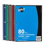 Hilroy One Subject Notebook - 80 pages - Assorted Colours