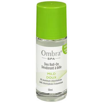 Ombra Spa Deodorant Roll On - Mild - 50ml