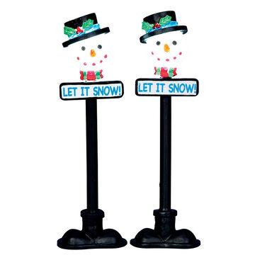 Lemax Snowman Street Lamp - 2 set