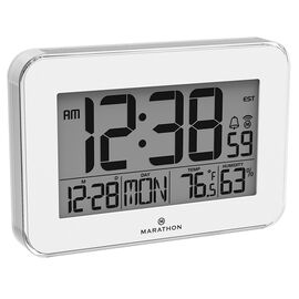 Marathon Crystal Atomic Clock - White - CL030060WH