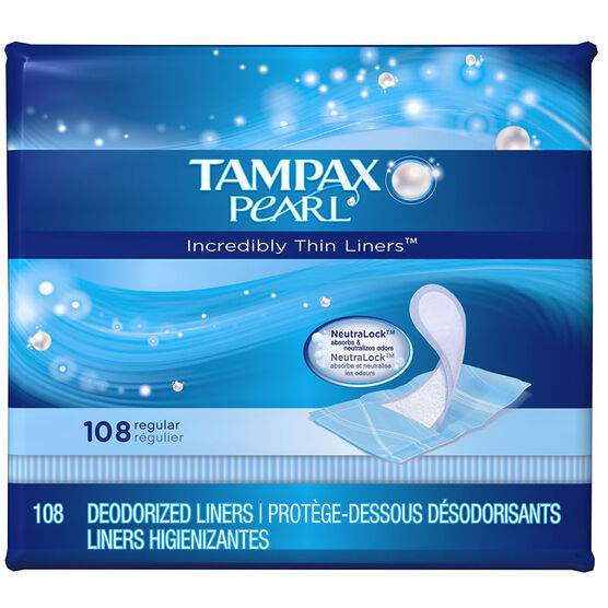 Tampax Pearl Liners - 108's