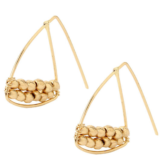 Haskell Teardrop Hoop Earrings - Gold