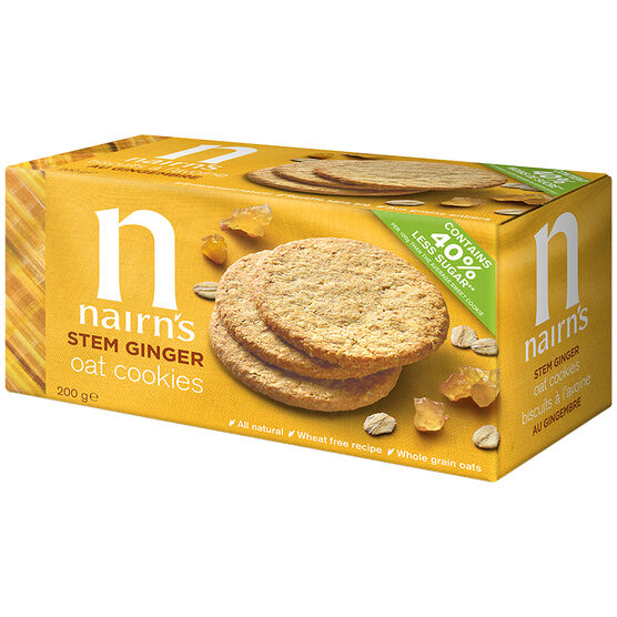 Nairn's Oat Biscuits - Stem Ginger - 200g
