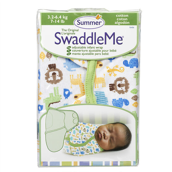 Summer Infant SwaddleMe Cloth - 7-14 lbs - Zoo Cotton