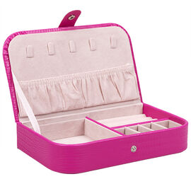 Beauty Scene Jewellery Box - Hot Pink
