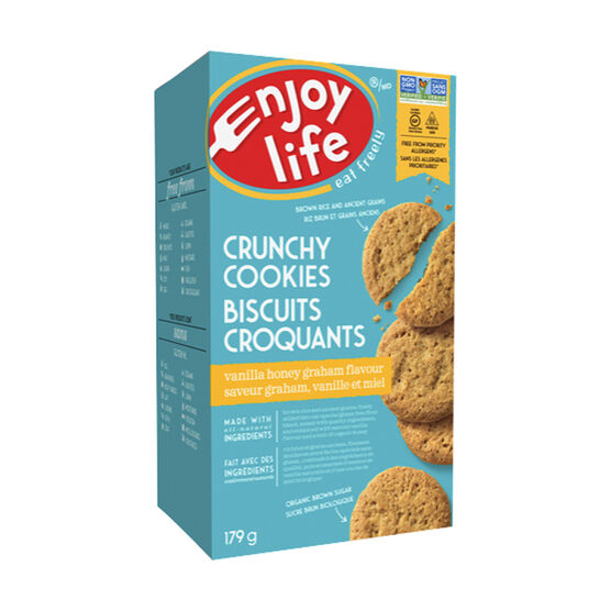 Enjoy Life Gluten Free Crunchy Cookies - Vanilla Honey Graham - 179g