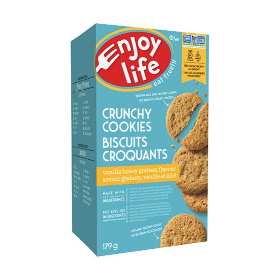 Enjoy Life Gluten Free Crunchy Cookies - Vanilla Honey Graham - 179g