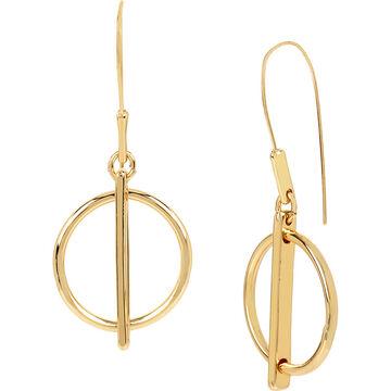 Kenneth Cole Shiny Circle Drop Earrings
