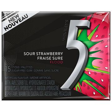 Wrigley 5 - Flood - Sour Strawberry - 15 pieces