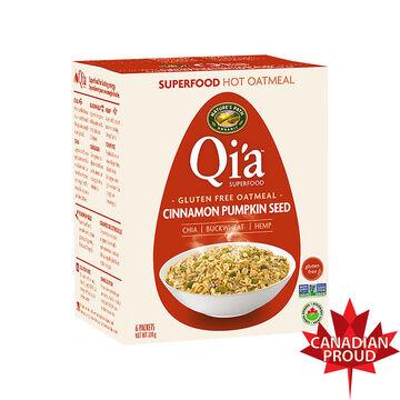 Nature Path Qi'A Gluten Free Oatmeal - Cinnamon Pumpkin Seed - 6 Packets