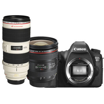 Canon EOS 6D with 24-70mm and 70-200mm Lens