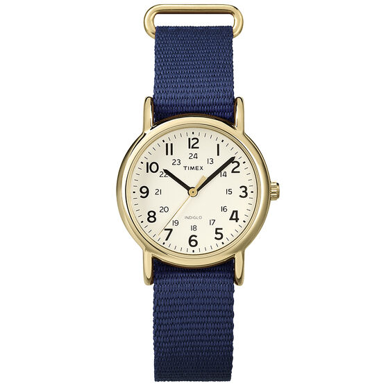 Timex Weekender Fashion Watch - Cream/Blue - T2P475GP
