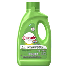 Cascade Dishwashing Gel - Lemon Scent with Bleach - 2.12kg