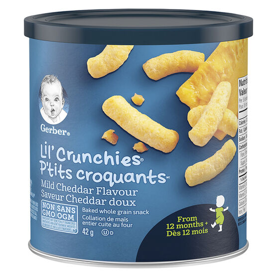 Gerber Graduates for Toddlers Lil' Crunchies - Mild Cheddar - 42g
