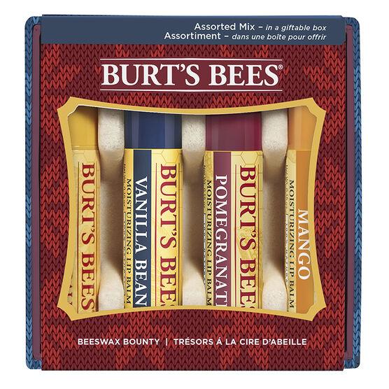 Burt's Bees Beeswax Lip Balm  - Assorted Mix - 4 x 4.2g