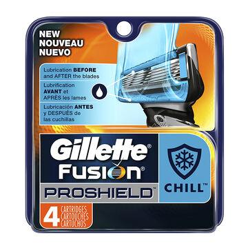 Gillette Fusion Proshield Cartridges - Chill - 4's