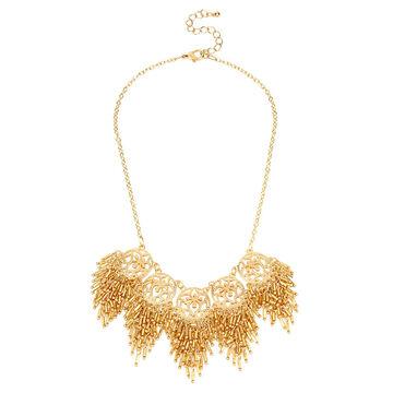 Haskell Fringe Statement Necklace - Gold