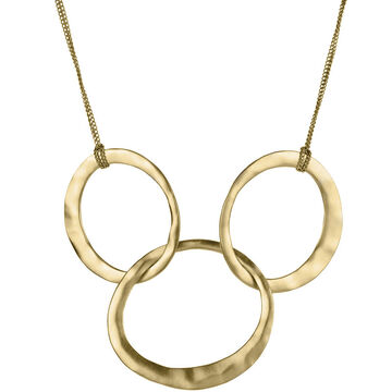 Kenneth Cole Circle Link Frontal Necklace - Gold Tone