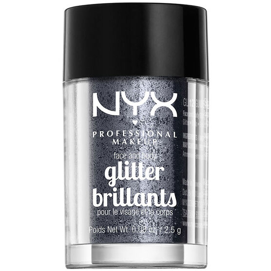 NYX Professional Makeup Face and Body Glitter - Gunmetal