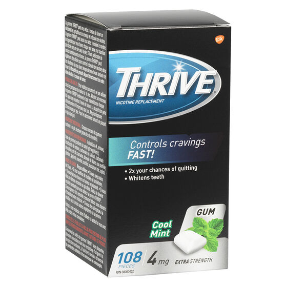 Thrive 4mg Stop Smoking Aid Gum - Cool Mint - 108's