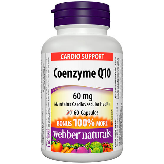 Webber Naturals Coenzyme Q10 60mg - 30's