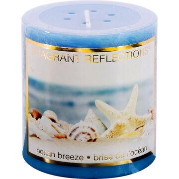 Fragrant Reflection Pillar Candle - Ocean Breeze - 3 inch