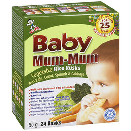 Baby Mum-Mum Rice Rusk - Vegetable Flavour - 50g