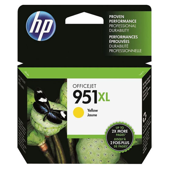 HP 951XL High Yield Officejet Ink Cartridge -  Yellow - CN048AN#140
