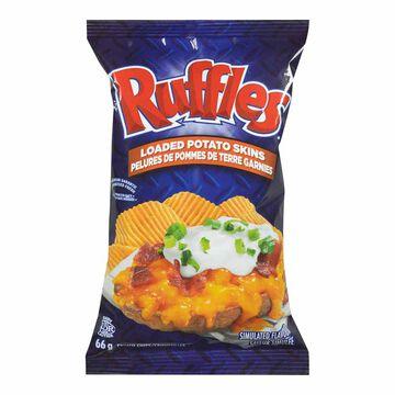 Ruffles Potato Chips - Loaded Potato Skins - 66g