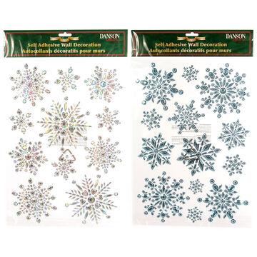 Danson Self Adhesive Snowflake Wall Decoration - Assorted