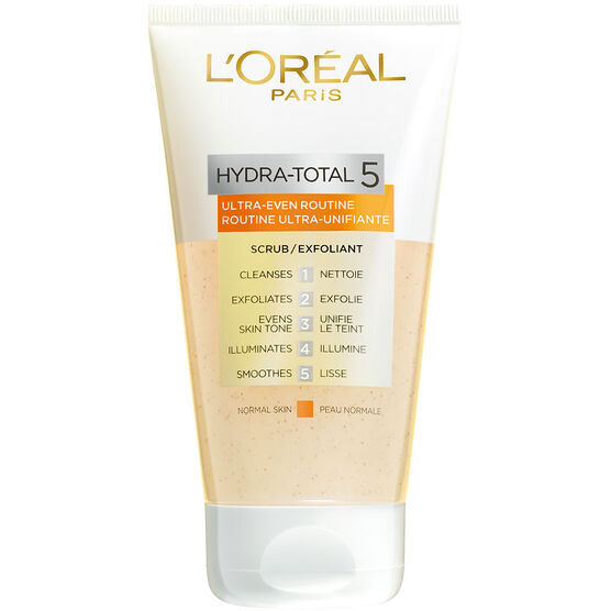 L'Oreal Hydra-Total 5 Ultra-Even Routine Scrub - 150ml