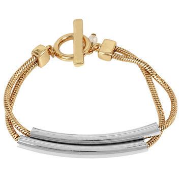 Kenneth Cole Bar Flex Bracelet - Two Tone