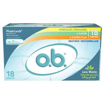 O.B. Multi-Pack Tampons - 18's
