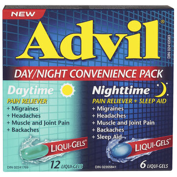 Advil Day Night Convenience Pack Pain Reliever with Sleep Aid - 18's