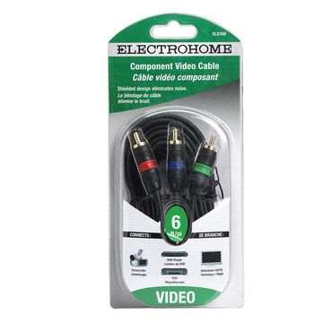 Electrohome 6-ft Component Video Cable 3 RCA to 3 RCA - ELS150